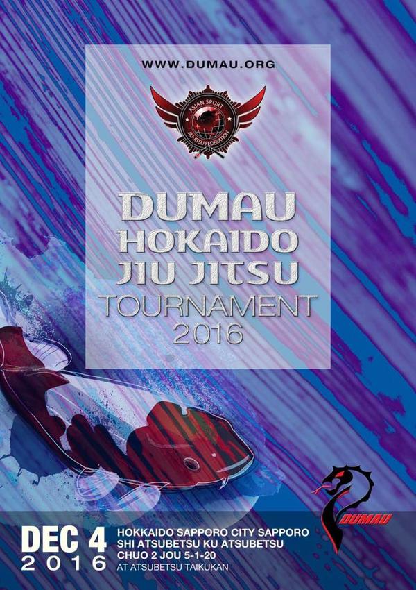 ASJJF - DUMAU HOKAIDO JIU JITSU TOURNAMENT 2016 Poster