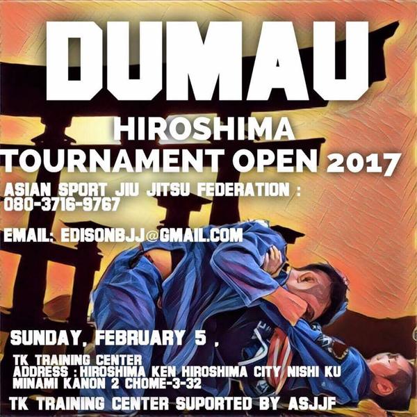 ASJJF - DUMAU HIROSHIMA OPEN JIU JITSU TOURNAMENT 2017 Poster