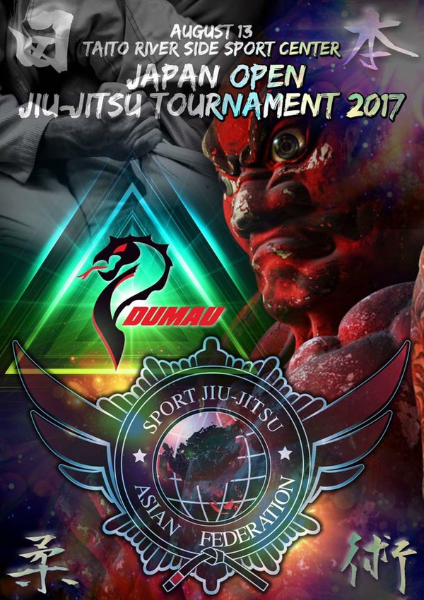 ASJJF JAPAN OPEN JIU JITSU TOURNAMENT 2017 Poster