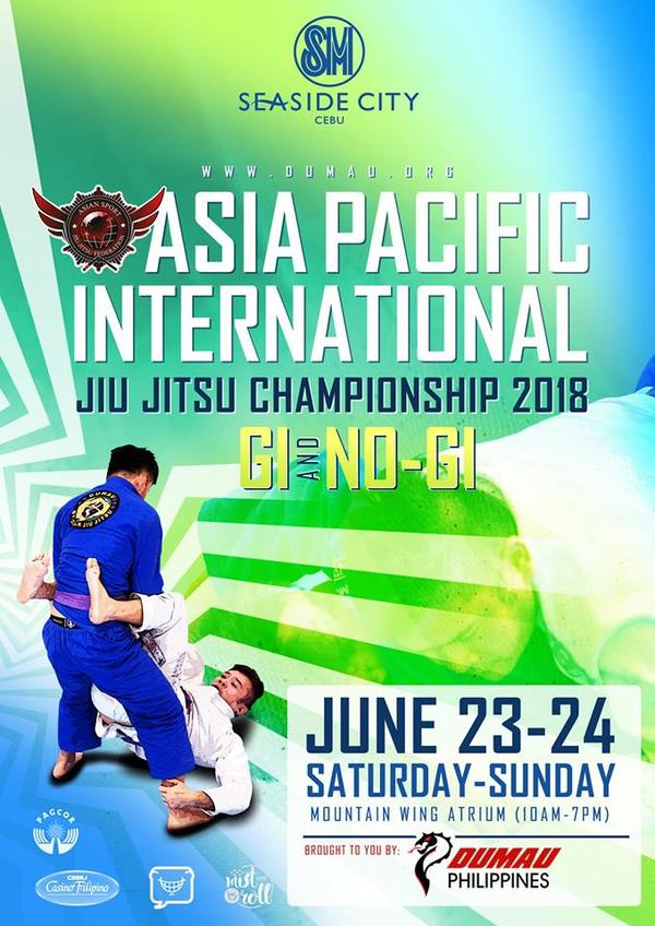 ASIA PACIFIC INTERNATIONAL JIU JITSU CHAMPIONSHIP 2018 Poster