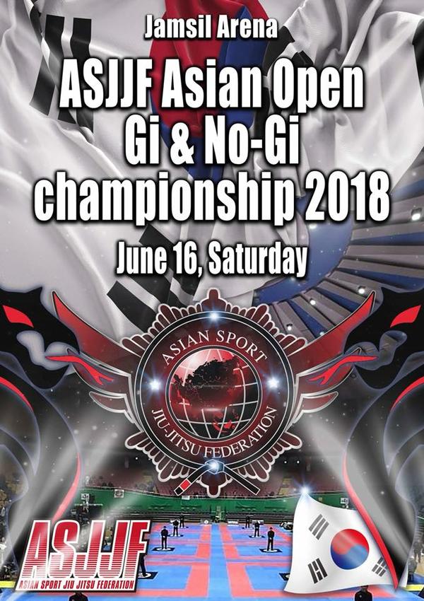 ASJJF ASIAN OPEN JIU JITSU CHAMPIONSHIP 2018