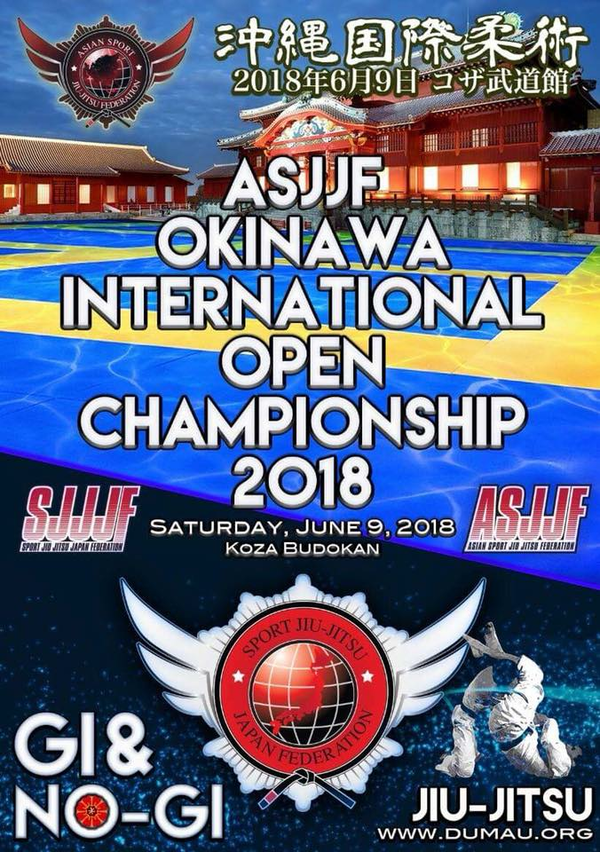 ASJJF OKINAWA INTERNATIONAL OPEN CHAMPIONSHIP 2018 Poster