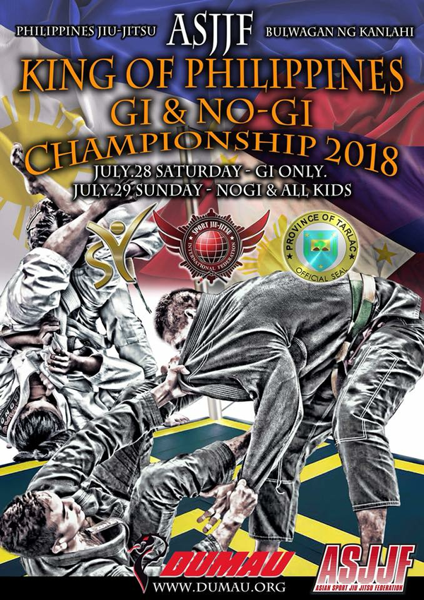 KING OF PHILIPPINES JIU JITSU CHAMPIONSHIP 2018 Poster