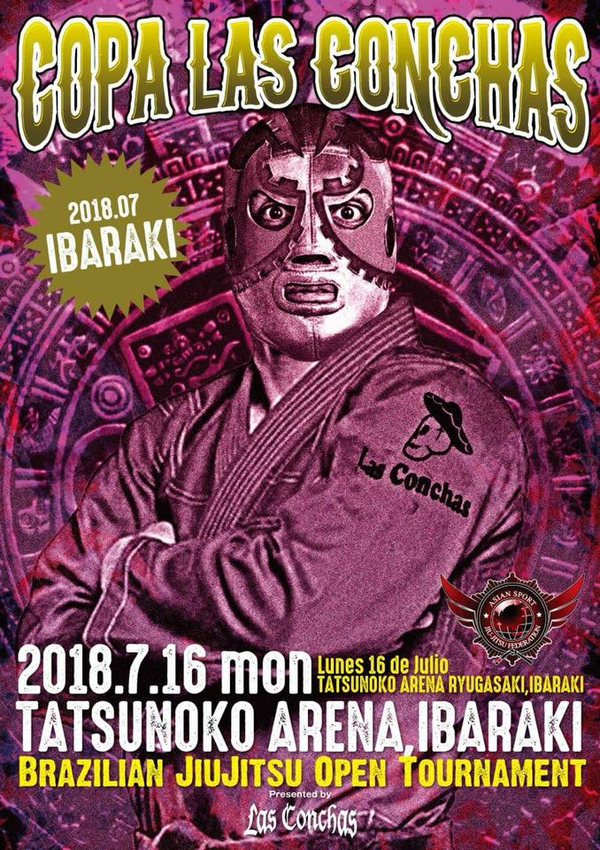 COPA LAS CONCHAS NO-GI IBARAKI INTERNATIONL 2018 Poster