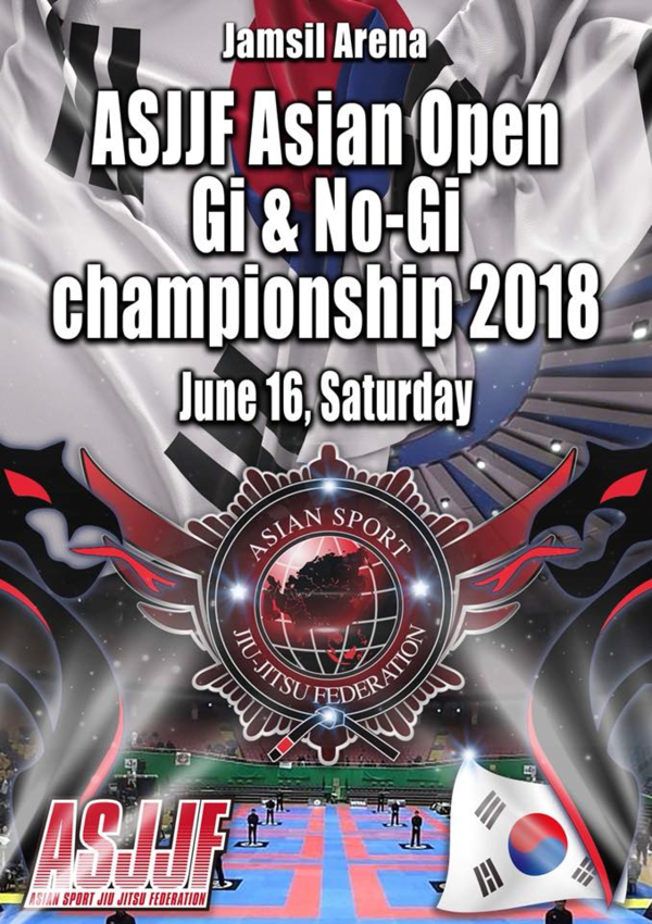 ASJJF ASIAN OPEN NO-GI CHAMPIONSHIP 2018