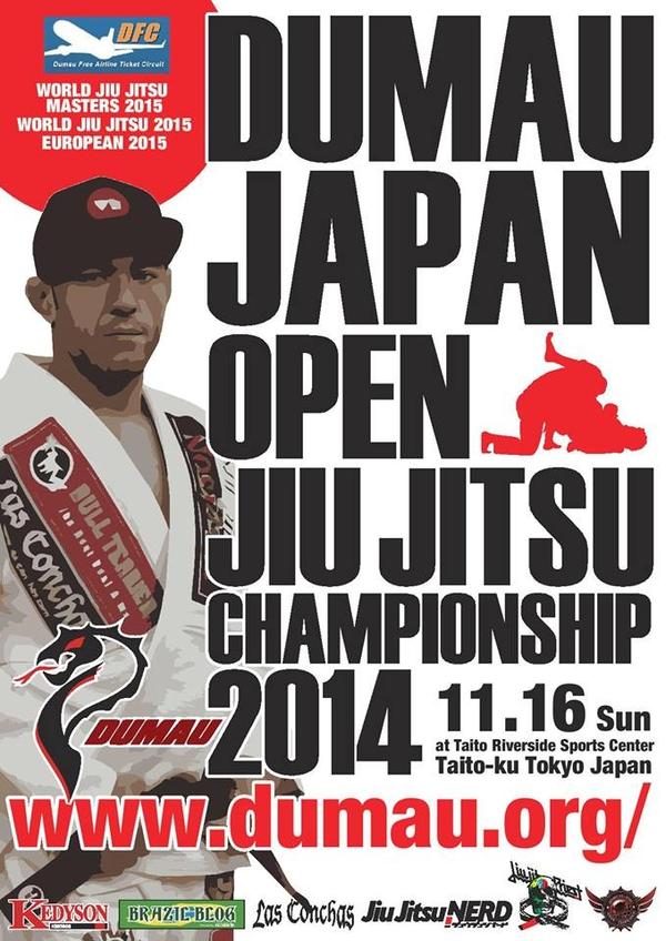 DUMAU JAPAN OPEN JIU JITSU CHAMPIONSHIP 2014 Poster