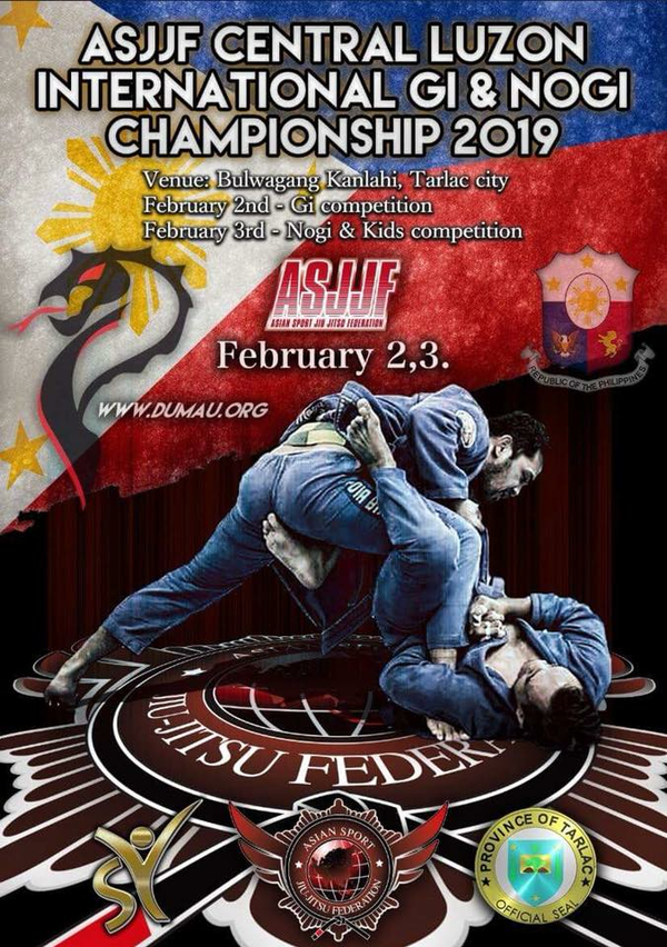 ASJJF CENTRAL LUZON INTERNATIONAL JIU JITSU CHAMPIONSHIP 2019 Poster