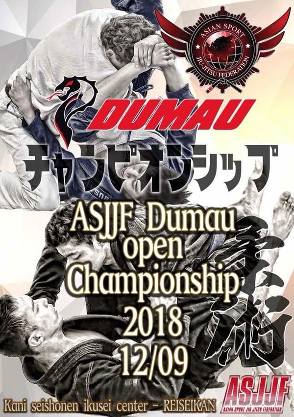 ASJJF DUMAU OPEN JIU JITSU CHAMPIONSHIP 2018 Poster
