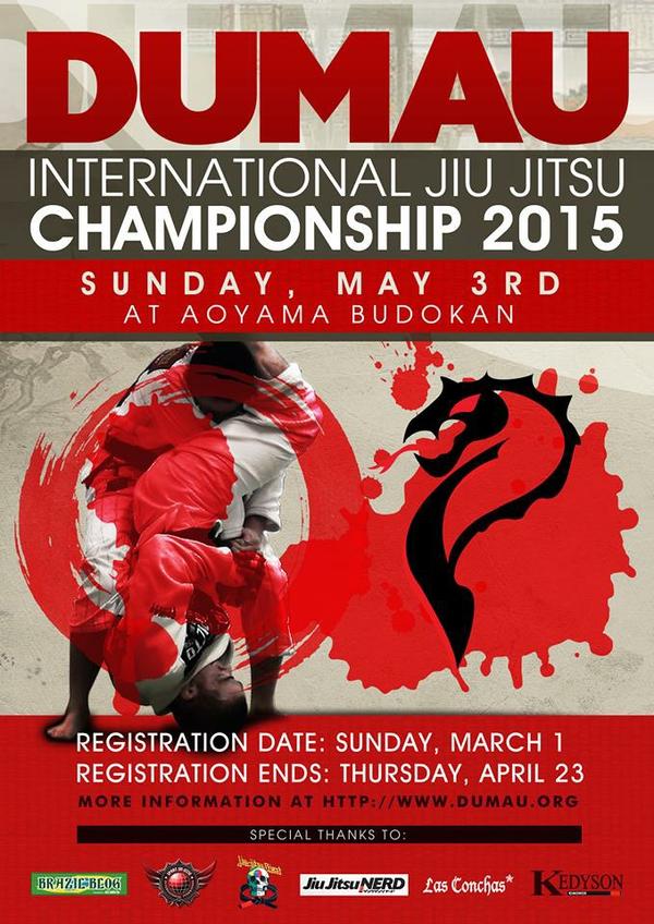 DUMAU INTERNATIONAL JIU JITSU CHAMPIONSHIP 2015 Poster