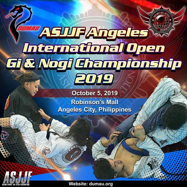 ASJJF ANGELES CITY INTERNATIONAL OPEN JIU JITSU CHAMPIONSHIP 2019 Poster