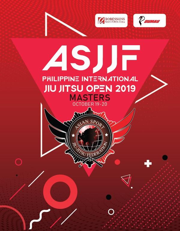 ASJJF PHILIPPINE INTERNATIONAL MASTER JIU JITSU OPEN 2019 Poster