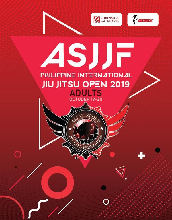 ASJJF PHILIPPINE INTERNATIONAL JIU JITSU OPEN 2019 Poster