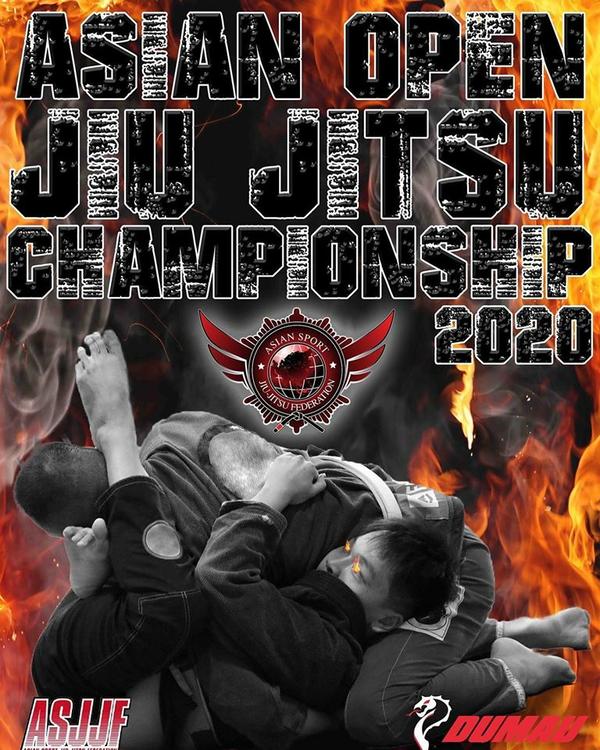 ASJJF ASIAN OPEN JIU JITSU CHAMPIONSHIP 2020 Poster