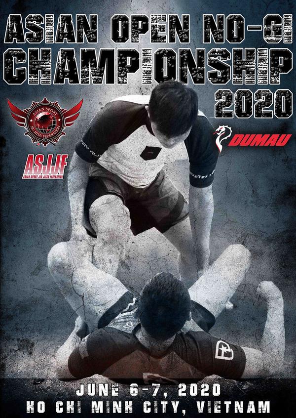 ASJJF ASIAN OPEN NO-GI CHAMPIONSHIP 2020 Poster