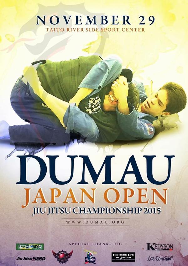ASJJF - DUMAU JAPAN OPEN JIU JITSU CHAMPIONSHIP 2015 Poster