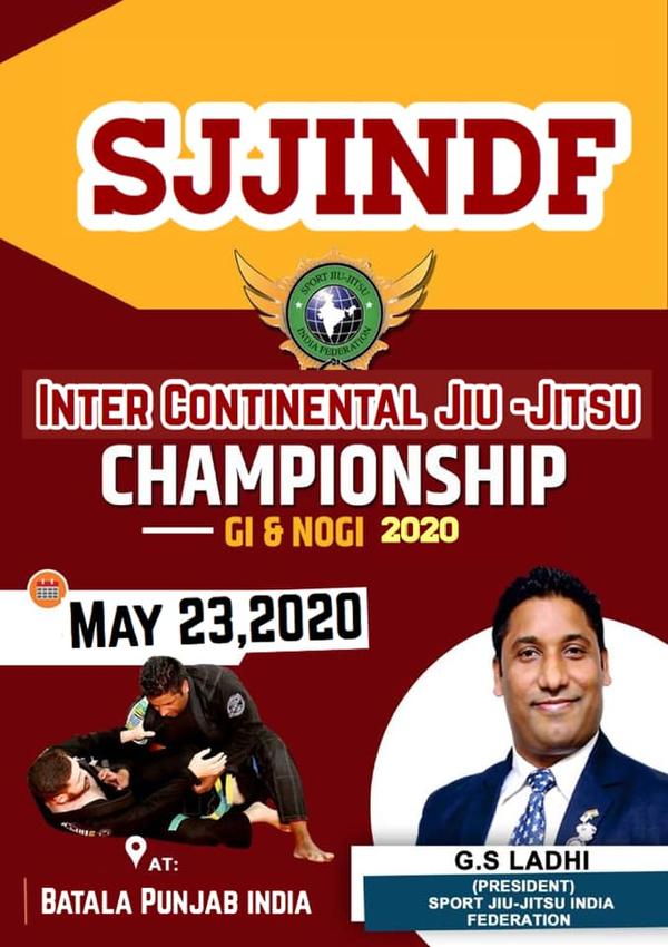 SJJINDF INTER-CONTINENTAL JIU JITSU CHAMPIOSHIP 2020 Poster