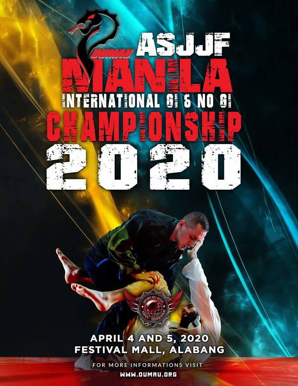 ASJJF MANILA INTERNATIONAL OPEN NO-GI CHAMPIONSHIP 2020 Poster