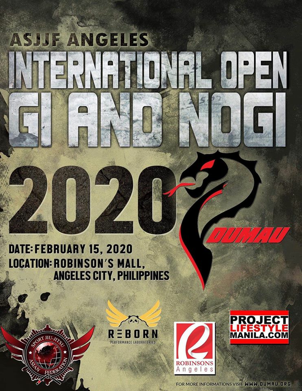 ASJJF ANGELES CITY INTERNATIONAL OPEN NO-GI CHAMPIONSHIP 2020 Poster