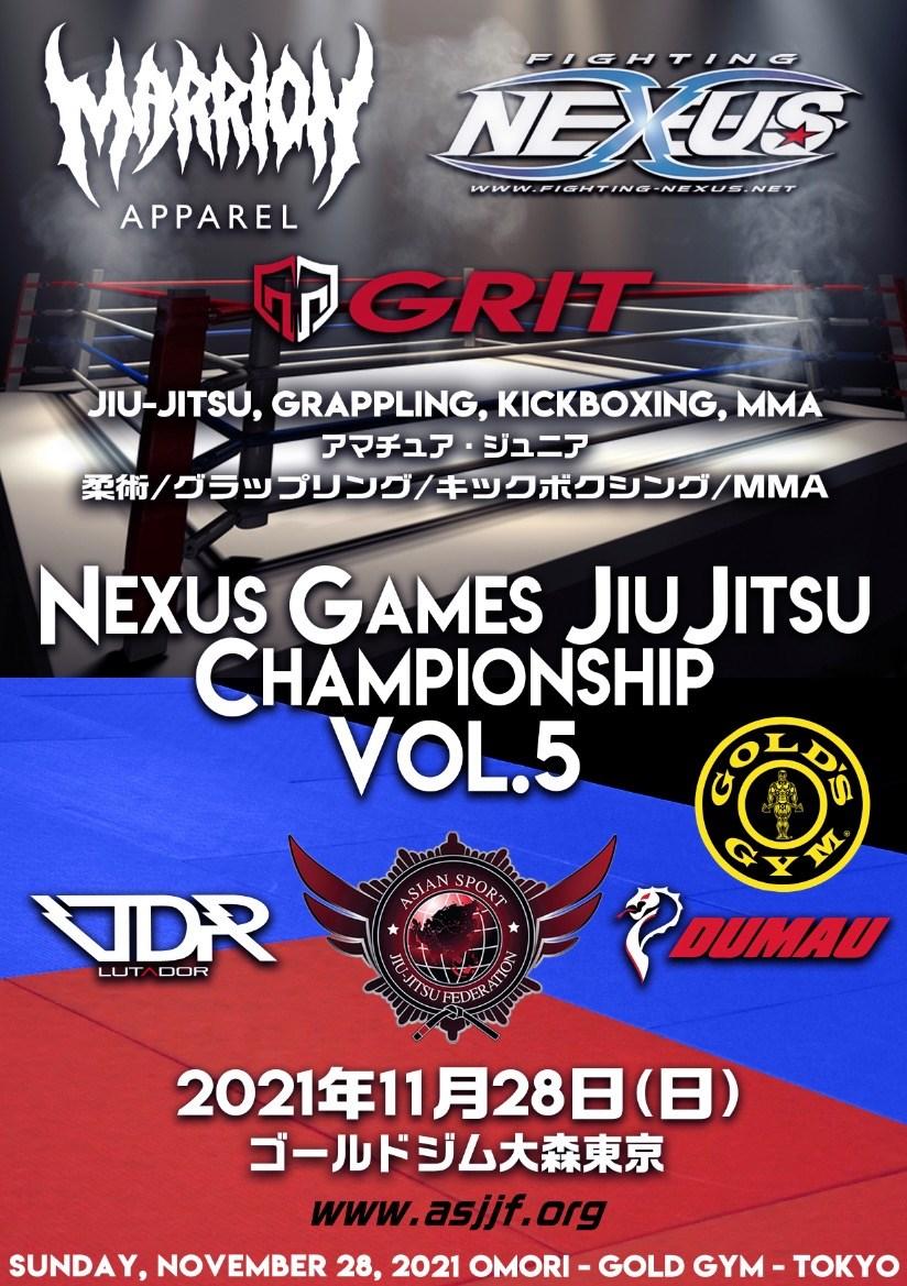nexus games jiu jitsu championship - vol.5